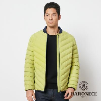 BARONECE 百諾禮士休閒商務 男裝 鋪棉球衣領夾克外套--黃綠色(1206791-43)