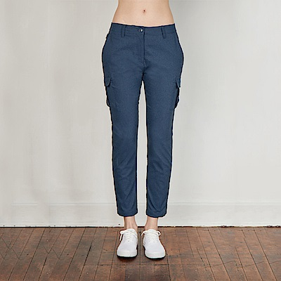 【HAKERS 哈克士】女-彈性快乾口袋褲-灰藍