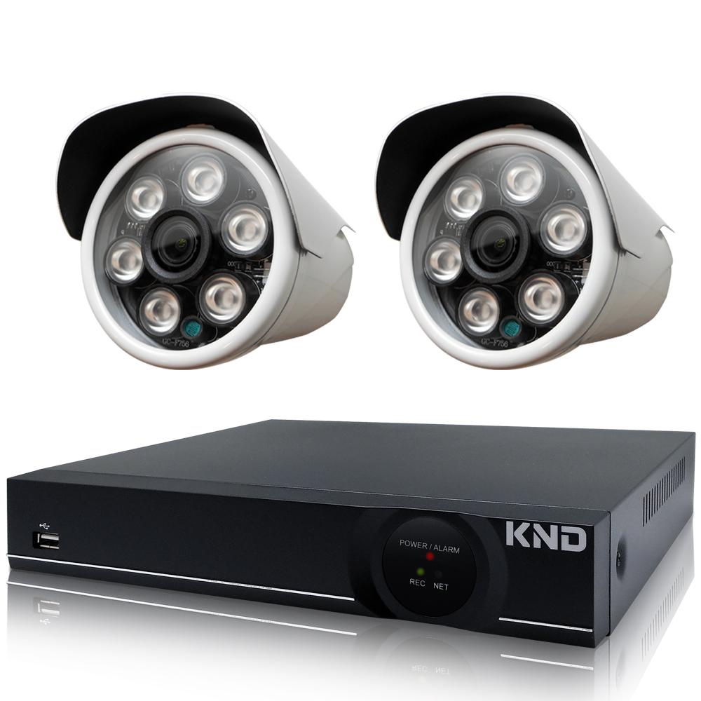 奇巧 4路1080P台製KND單硬碟款主機-含四合一SONY 200萬攝影機x2 @ Y!購物