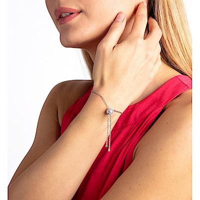 CALVIN KLEIN Side 系列時尚球形珠造型鋼色手鍊