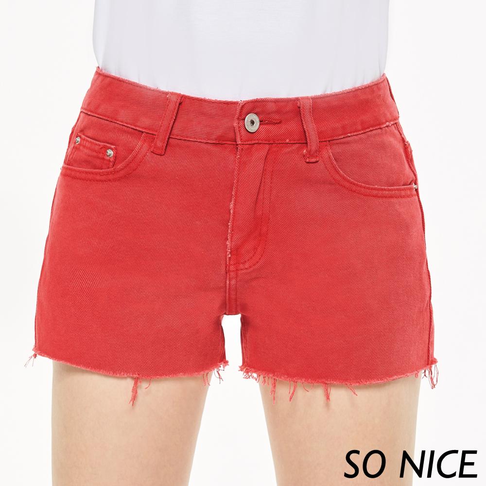 SO NICE夏季俏麗抽鬚短褲