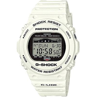 G-SHOCK 5700潮汐衝浪者太陽能電波錶-白/45.4m