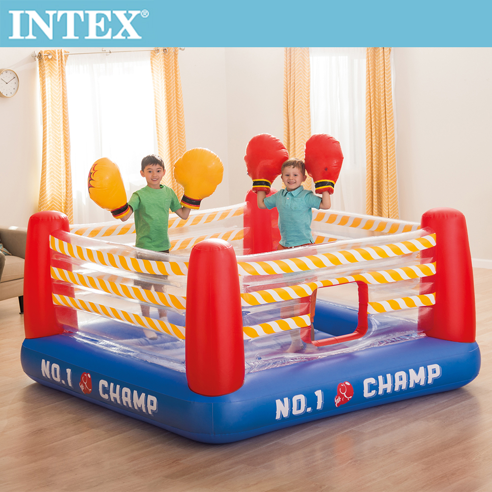 INTEX NO1大型充氣拳擊場-附4個手套(48250)+送110V幫浦(66639)