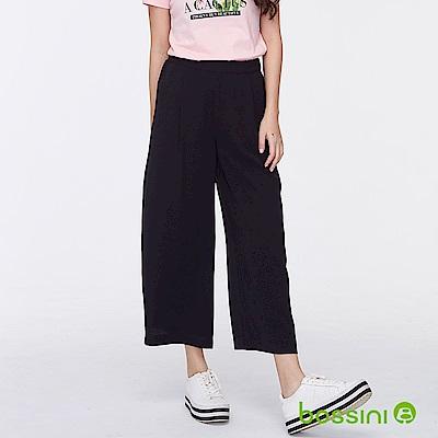 bossini女裝-時尚寬褲01黑