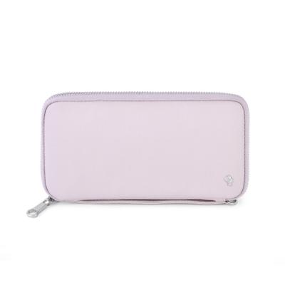PORTER - 輕甜繽紛SPIRIT手拿斜背護照包/長夾 - 藕粉紫(銀)