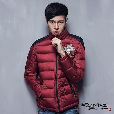 地藏小王 BLUE WAY 異材質拼接輕量羽絨外套(紅)