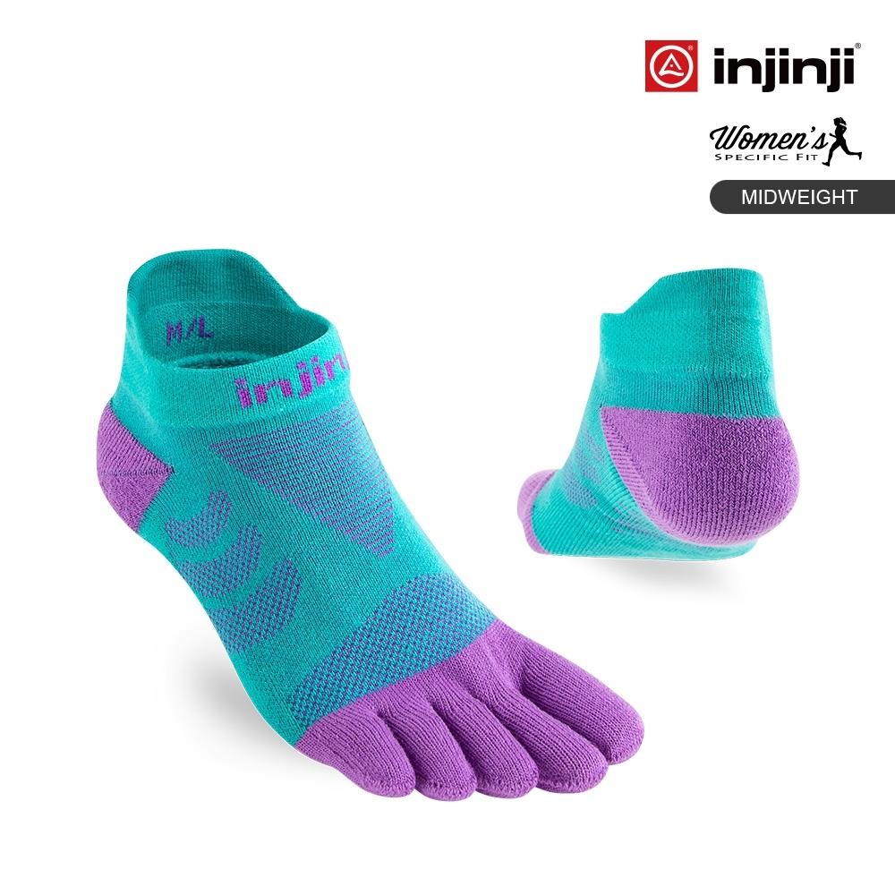【INJINJI】Ultra Run 終極系列女款五趾隱形襪[蘭花紫]