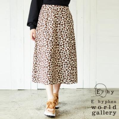 E hyphen Hello Kitty聯名款-豹紋中長裙