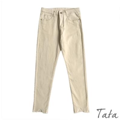 米白彈力牛仔褲 TATA-(S/M)