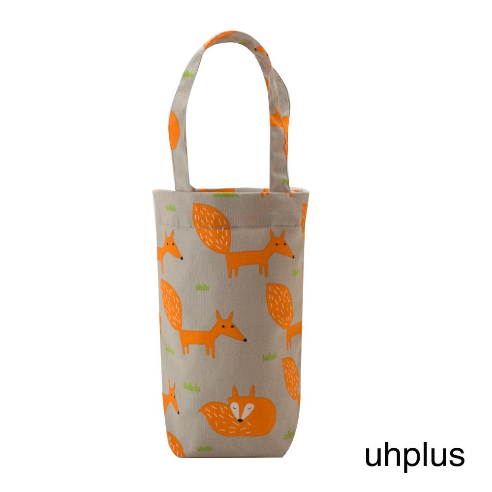 uhplus 隨行環保飲料袋(長版)- 小狐狸(灰橘)