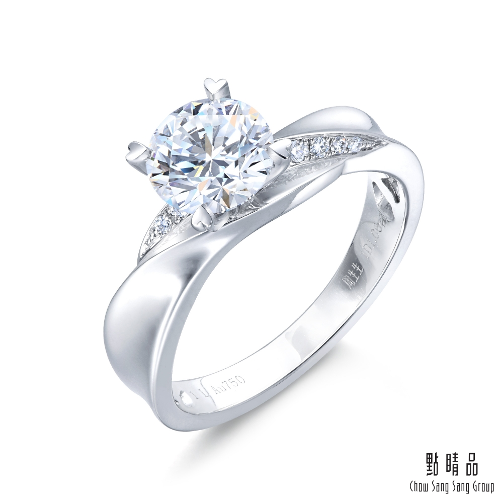 點睛品 Promessa 0.5克拉經典鑽石婚戒 求婚戒