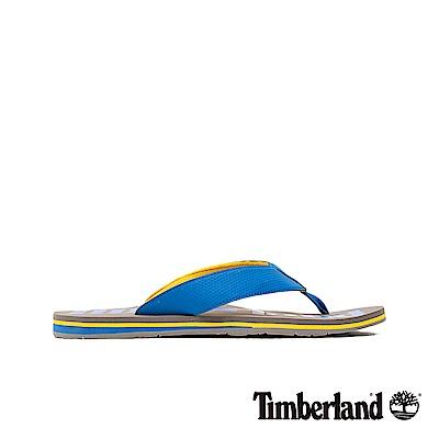 Timberland 男款藍色柔軟狂野沙丘夾腳拖鞋|A1VNT