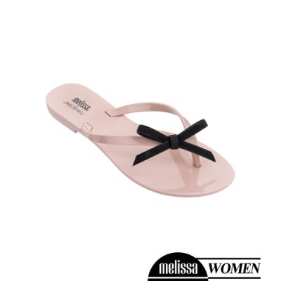 Melissa JASON WU聯名款 蝴蝶結質感撞色涼拖鞋-粉