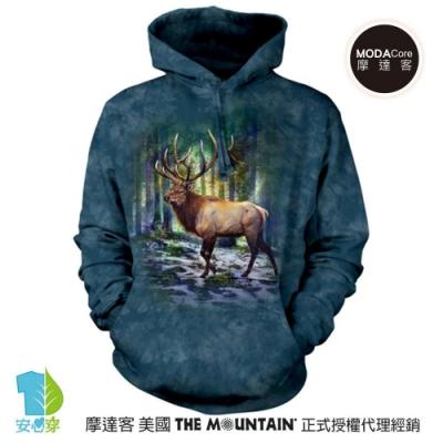 摩達客 美國The Mountain 日光麋鹿 環保藝術長袖連帽T恤