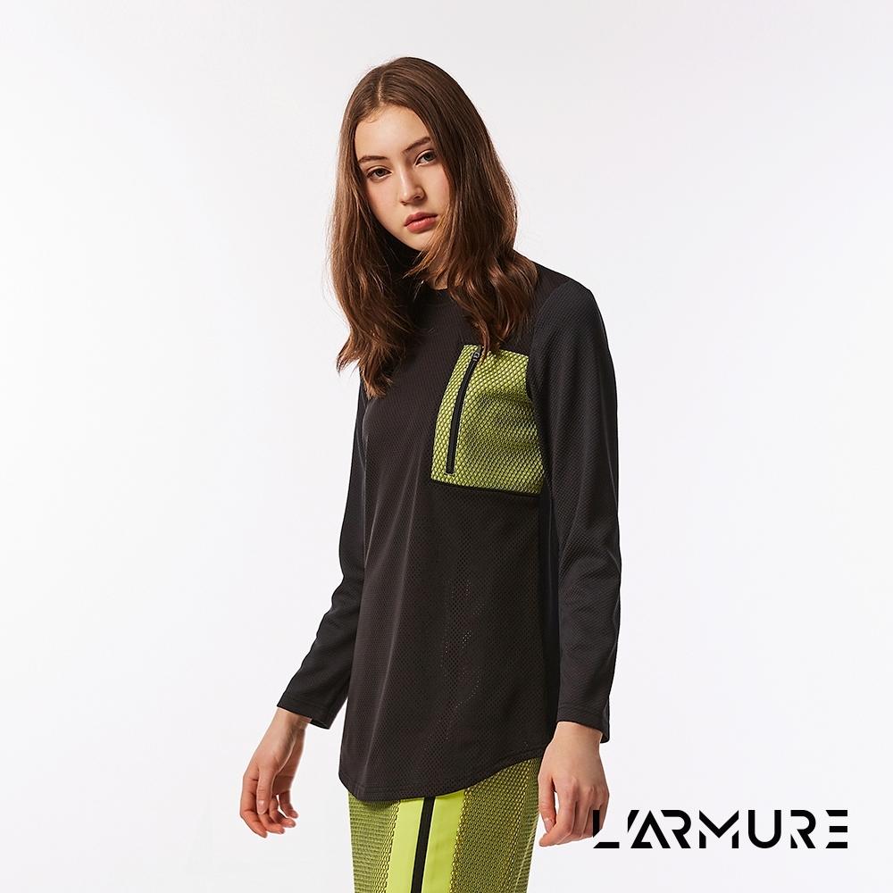 L'ARMURE 女裝 網紋撞色 上衣 紋理黃