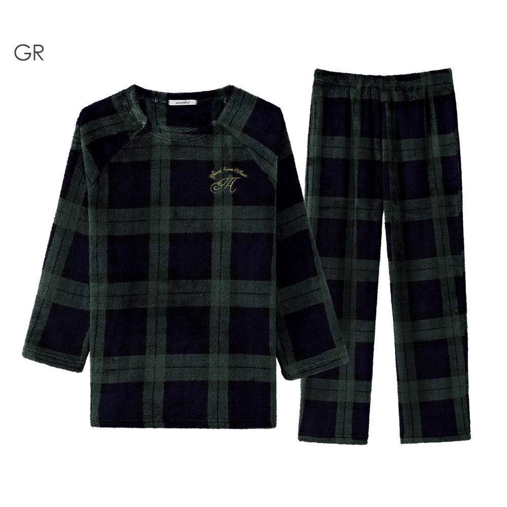 aimerfeel 搖粒絨成套睡衣-綠色-822379-GR