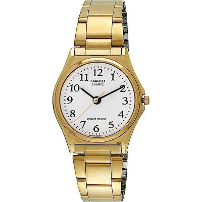 CASIO 卡西歐 小錶徑指針手錶-白x金/25mm(LTP-1130N-7BRDF)