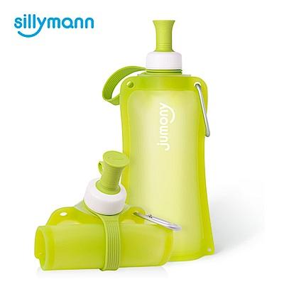 韓國sillymann-簡約便攜捲式鉑金矽膠水瓶-550ml-蘋果綠