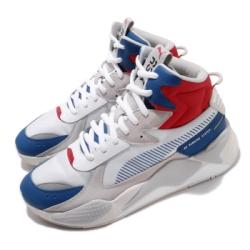 Puma 休閒鞋 RS X Midtop 運動 男鞋 基本款 簡約 皮革 麂皮 球鞋 穿搭 白 灰 36982102
