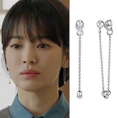 梨花HANA  韓劇宋慧喬男朋友S925銀針銀珠耳線垂飾耳環