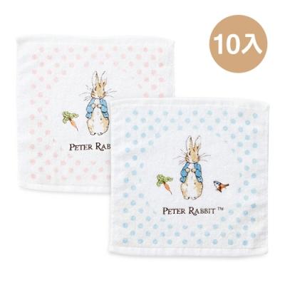 奇哥 圓點比得兔方巾10入(2色選擇)