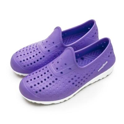 GOODYEAR 排水透氣輕便水陸多功能休閒洞洞鞋 粉紫 82807