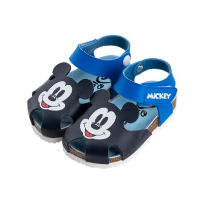 迪士尼童鞋 米奇 護趾休閒涼鞋- 藍