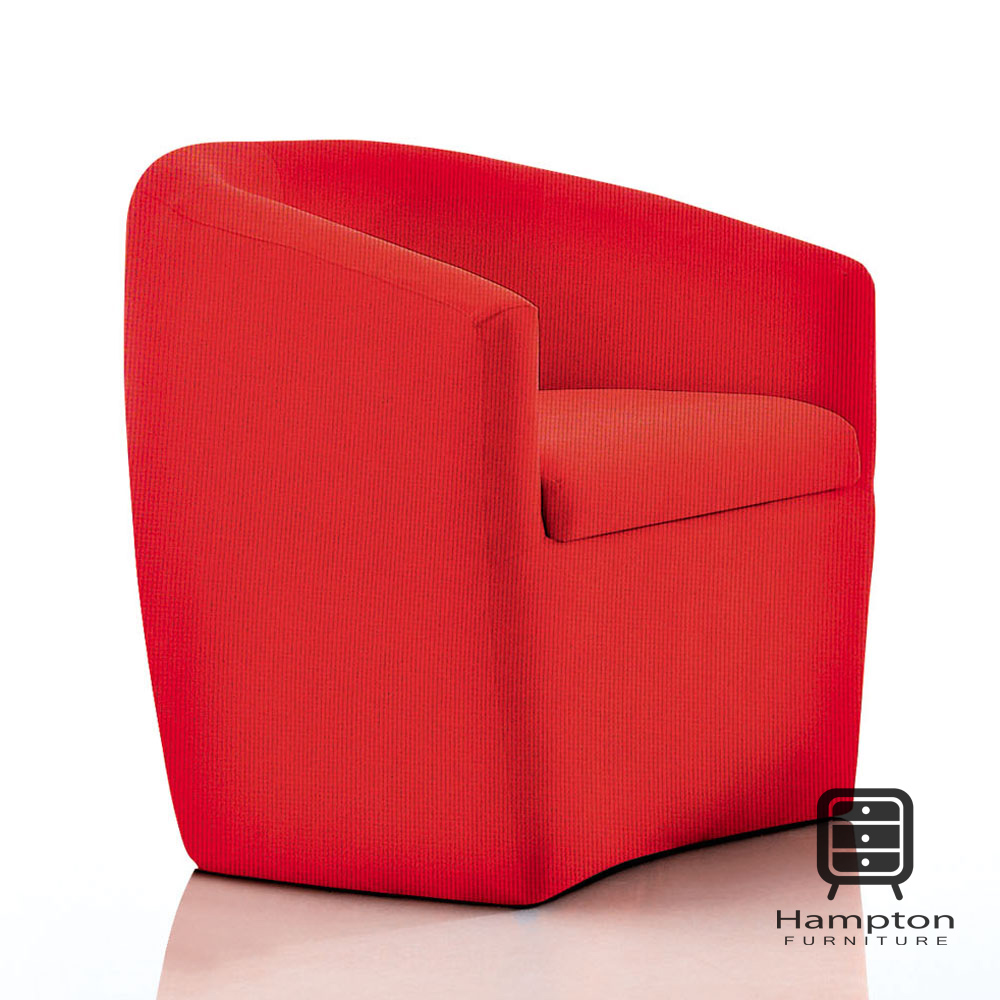 漢妮Hampton瑪拉紅布小沙發