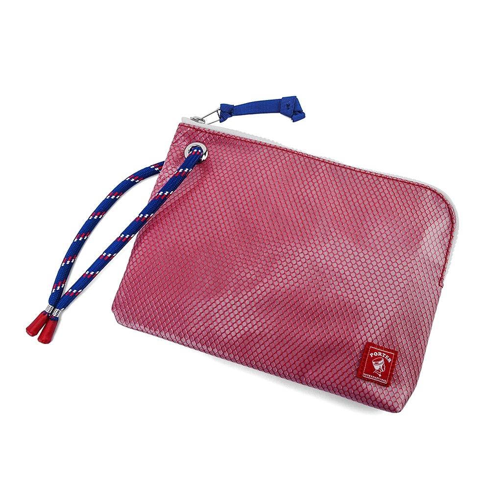 PORTER - 彩色束繩收納小袋 - 紅
