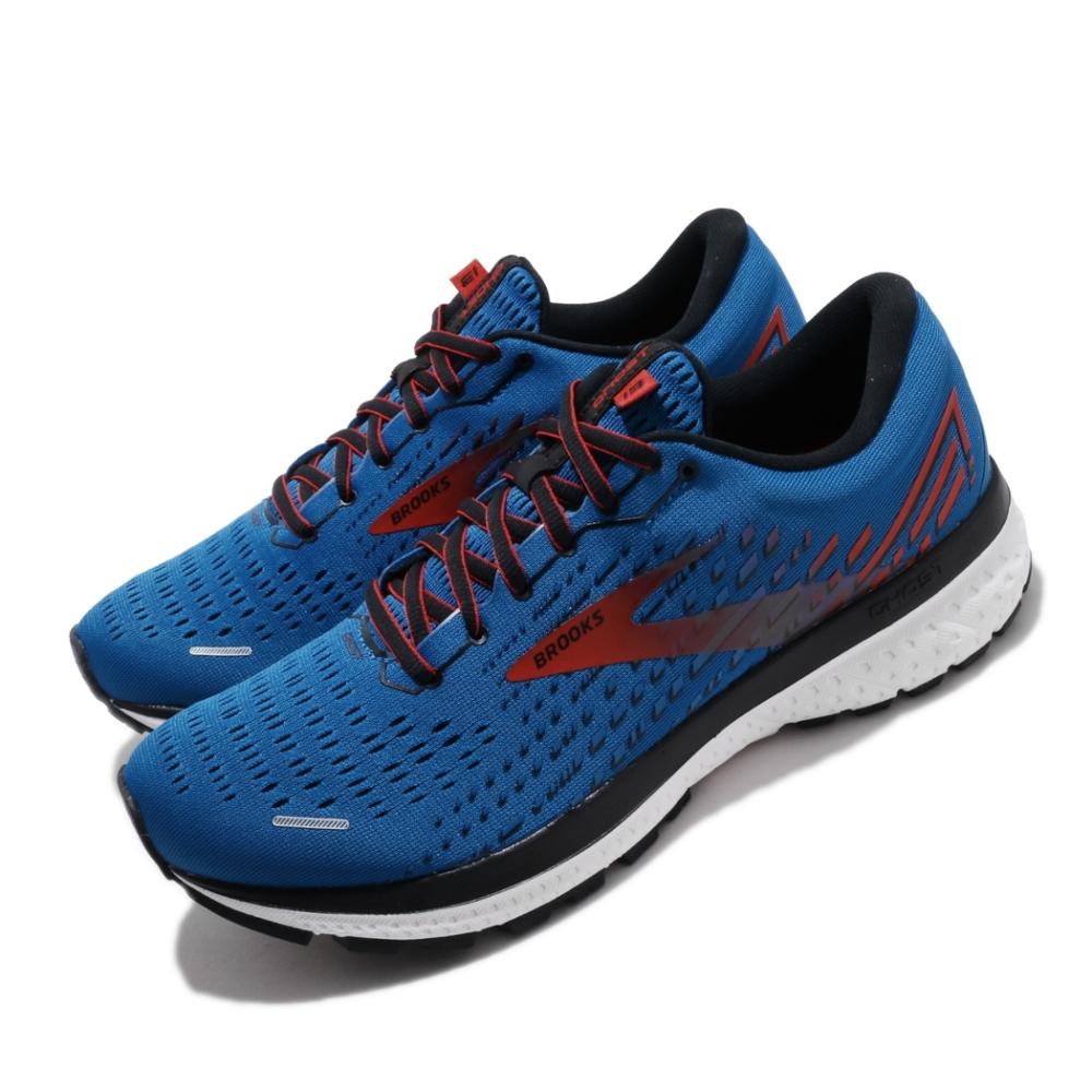 Brooks 慢跑鞋 Ghost 13 運動 男鞋 路跑 緩震 DNA科技 透氣 舒適 球鞋 藍 紅 1103481D435