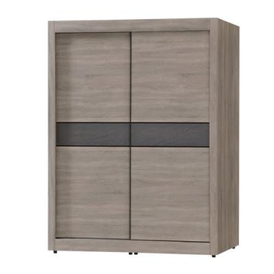 綠活居 哥利 現代5尺推門衣櫃/收納櫃(吊衣桿+三抽屜)-150x60x200cm免組
