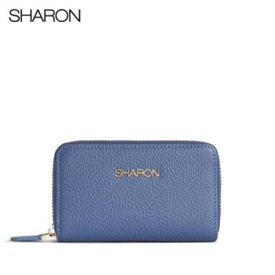 【SHARON 雪恩】荔枝紋小零錢包(藍色93025BR)