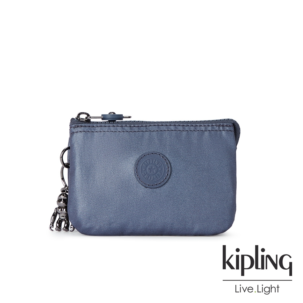Kipling 個性霧灰藍三夾層配件包-CREATIVITY S product image 1
