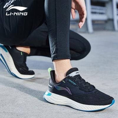 LI-NING 李寧 雲五代SHIELD減震系列慢跑鞋 標準黑/螢光冰黃 男款(ARHQ243-3)