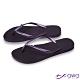 QWQ 女款水鑽夾腳拖鞋-鞋帶保固-防滑耐磨-質感拖鞋-紫色圓面小鑽-星空紫(AAVP) product thumbnail 1
