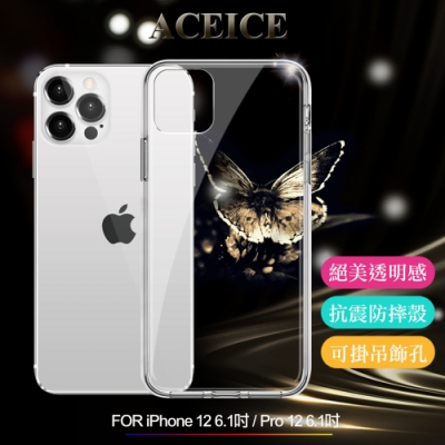 ACEICE for iPhone 12 / 12 PRO 6.1吋 全透晶瑩玻璃水晶殼