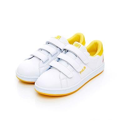FILA  女潮流復古鞋-黃 5-C117T-910