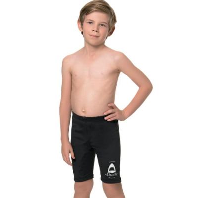 聖手牌 泳裝 卡通鯊魚七分男童泳褲