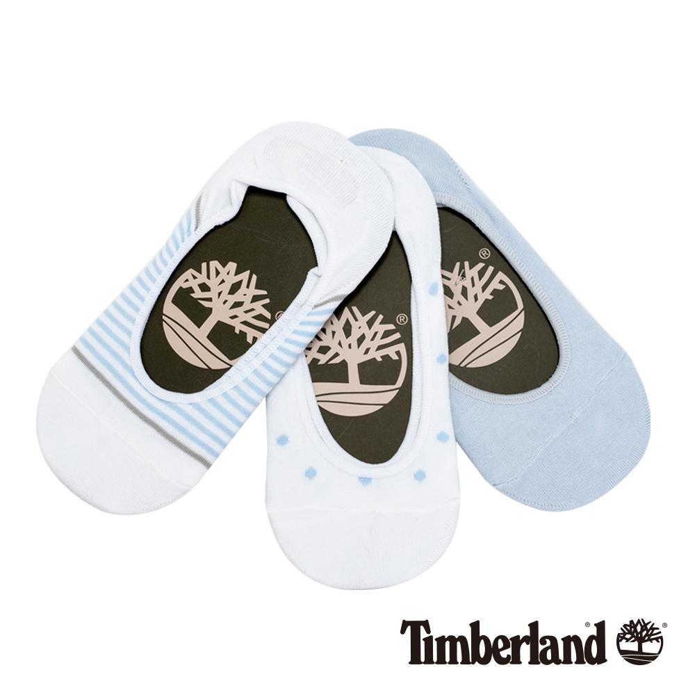 Timberland 女款藍白混搭條紋點點三件組隱形襪|A1EAZ