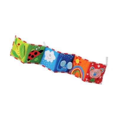 colorland 嬰兒雙面彩色布書床圍