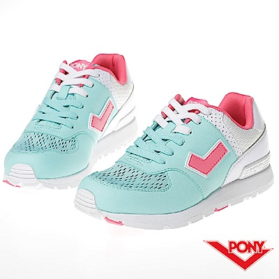 【PONY】SOLA-T系列-粉彩系列復古休閒鞋-女-綠