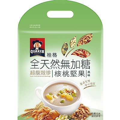 桂格 核桃堅果超級穀珍-無糖(28gx10入)