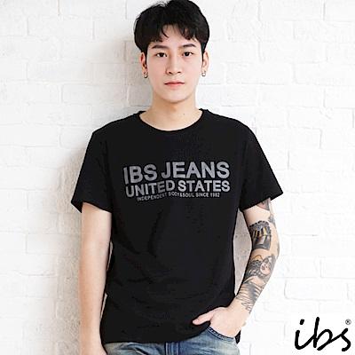 ibs品牌精神字母T-男-黑
