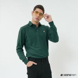 Hang Ten - 男裝 - 經典素色POLO衫 - 綠
