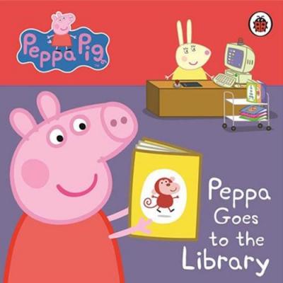 Peppa Pig:Peppa Goes To The Library 佩佩豬上圖書館精裝硬頁書