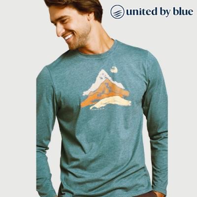 United by Blue 男休閒圓領長袖上衣 101-086 藍色 (S-XL)