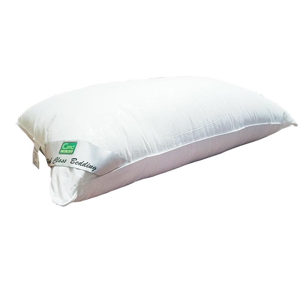 金德恩 台灣製造 頂級可水洗羽絲絨枕47x75cm/蓬鬆/透氣/柔軟/不易變形