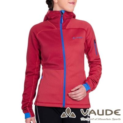 【德國 VAUDE】女款輕量抗風連帽彈性保暖刷毛休閒外套VA-05705紅