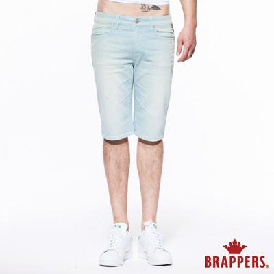 BRAPPERS 男款 HC Cargo系列-男用中腰彈性五分短褲-蘋果綠