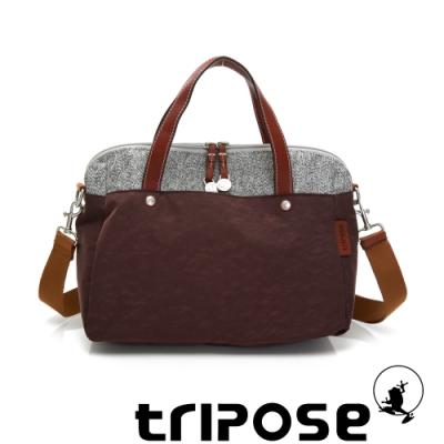 tripose 漫遊系列岩紋玩色兩用手提背包 可可咖